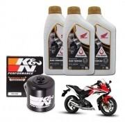 Kit Troca Oleo CBR 600 F 600F Filtro K N Kn  Óleo 10w30