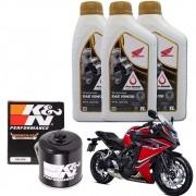 Kit Troca Oleo CBR 650 Filtro K N K&n 10w30