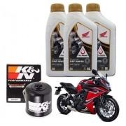 Kit Troca Oleo CBR 650F Filtro K N Kn 10w30