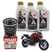 Kit Troca Oleo Filtro CB 650F 10w30 Fram