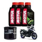Kit Troca Oleo Filtro Fram Motul 5000 10w40 Suzuki V Strom 650