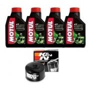 Kit Troca Óleo + Filtro K&N K N Bmw R1200 Gs 04-12 Motul 5100 15w50 kn-164