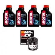 Kit Troca Oleo + Filtro K&N K N Hornet 600 Cbr 600f Motul 3000 20w50