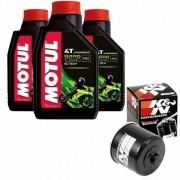 Kit Troca Oleo Filtro K&N K N Kn Motul 5000 10w40 Suzuki V Strom 650