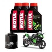 Kit Troca Oleo Filtro K&n KN K N Ninja 300 Motul 5000 10W40