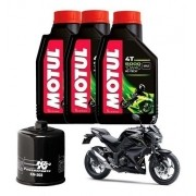 Kit Troca Oleo Filtro K&n KN K N Z300 Motul 5000 10W40