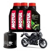 Kit Troca Oleo Filtro K&n KN K N Z300 Motul 5100 10W40