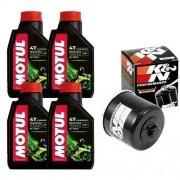 Kit Troca Oleo Filtro K N Kn Motul 5000 10w40 Suzuki V Strom 1000
