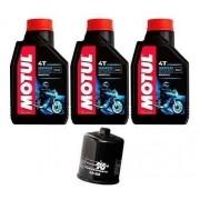 Kit Troca Oleo Filtro K N Ninja 300 Z300 Motul 3000 20w50