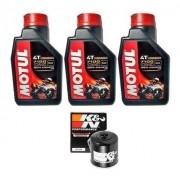 Kit Troca Oleo K N Kn Yamaha Yzf-r3 Mt07 Motul 7100 10w40