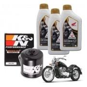 Kit Troca Oleo Shandow 750 Filtro K N Kn  Óleo 10w30