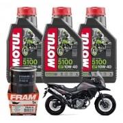 Kit Troca Oleo V-stron 650/1000 Motul 5100 10W40 3l + Filtro