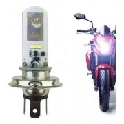 Lampada Farol Moto Led H4 8000k Super Branca 2 Leds 3/6W
