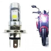 Lampada Farol Moto Led H4 8000k Super Branca 2 Leds 6/8W