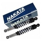 Par de Amortecedor Traseiro Cg Titan Fan 150 Cromado Nakata