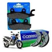 Pastilha de Freio Twister 250 CBX + Lona de Freio Cobreq
