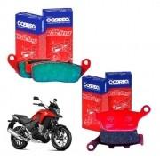 Pastilhas Freio CB 500X CB500X CB 500 X Dianteiro + Traseiro Cobreq Racing