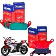 Pastilhas Freio CBR 500R CBR500R CBR 500 R Dianteiro + Traseiro Cobreq Racing