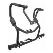 Protetor de Motor Bros 150 e Carenagem Chapam Preto c/ Pedal