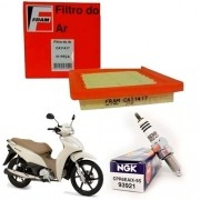 Vela Iridium Biz 125 2006 até 2010 NGK + Filtro de Ar Fram