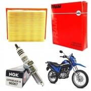 Vela Iridium Bros 160 NXR NGK + Filtro de Ar FRAM