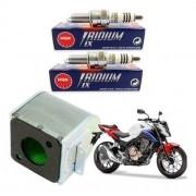 Vela Iridium NGK CB 500F CB500F 500 F + Filtro de Ar Original