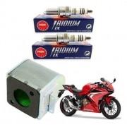 Vela Iridium NGK CBR 500R CBR500R 500 R + Filtro de Ar Original