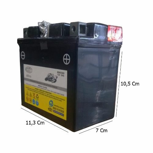 Bateria 5ah Amperes Dafra Super 50 Super 100 Mm6sbs Magneti Marelli