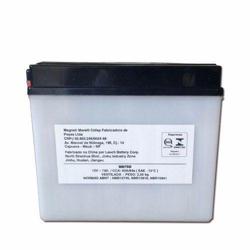 Bateria 7ah Ampere Cbx Aero 150 Nx 200 Xr 200 Mm7bb Yb7bb