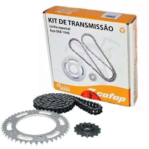 Kit Tração Relação Transmissão Fazer 250 Cofap Aço 1045