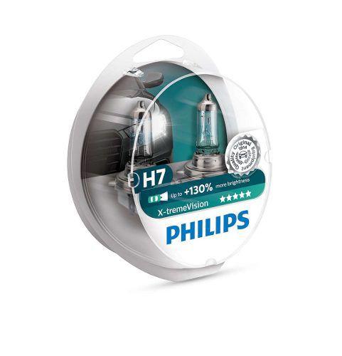 Lampada Philips Farol X-treme Vision 55w H7 Bandit (Par)