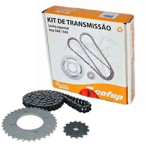 Kit Relação Transmissão Tração Biz 125 Cofap Aço 1045