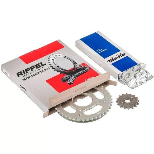 Kit Relação Transmissão Tração Biz 100 Riffel Premium