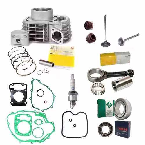 Kit Motor Titan 150 Bros Pistao Biela Rolamento Vela Junta K9171