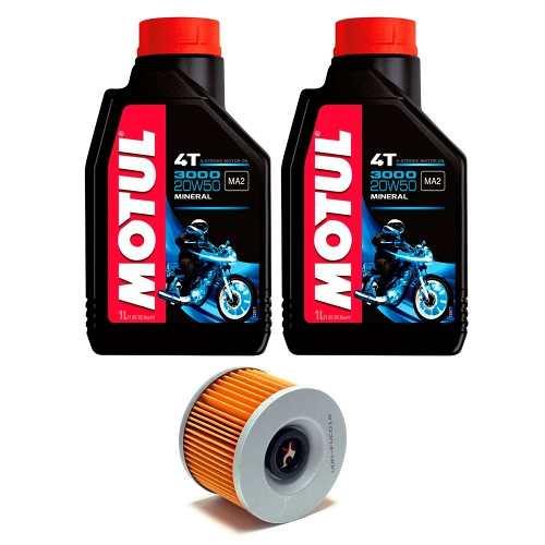 Kit Troca De Óleo Ninja 250 Motul 3000 20w50 + Filtro