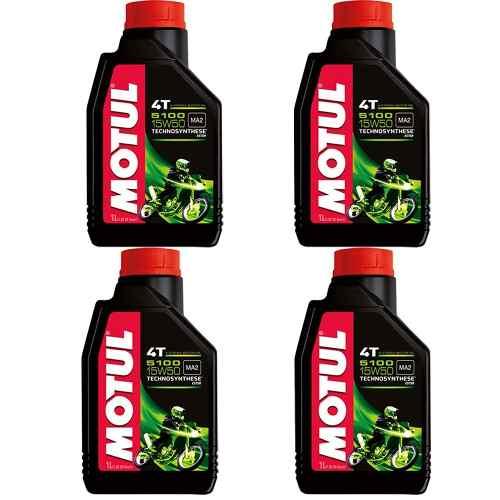 Oleo Motul 5100 15w50 Semissintético 4t Ester 4 Litros