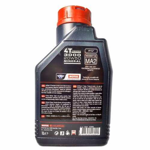 Oleo Motul 3000 20w50 Mineral 4t Lubrificante