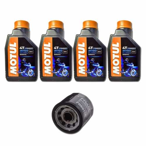 Kit Troca Oleo Motul 3000 20w50 Mineral + Filtro Fram Ph6017