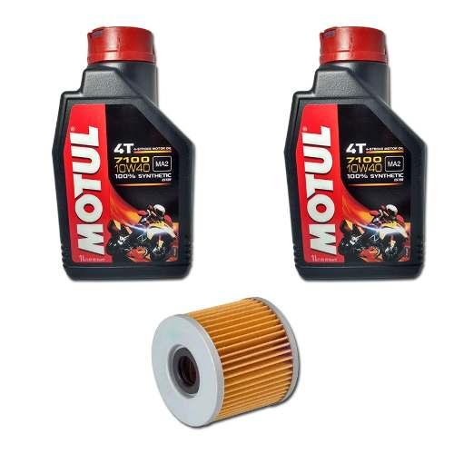 Kit Troca Oleo Motul 7100 10w40 + Filtro Fram Xre Cb 300 Twister