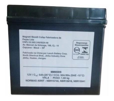 Bateria 5ah Ampere Bros 125 150 160 Es Esd Mm6sbs