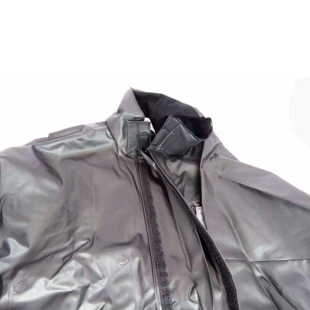 Capa de Chuva Alba Europa Masculina PVC c/ Gola Motoqueiro