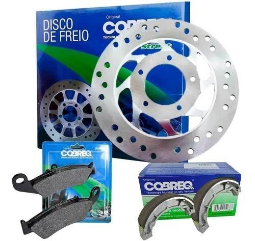 Disco de Freio Biz 125 + Pastilha + Patim Lona Cobreq Original