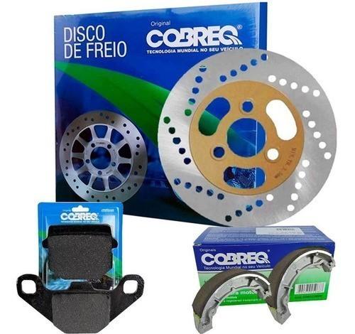 Disco de Freio Burgman 125 Carburada + Pastilha + Lona Cobreq