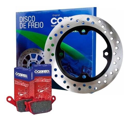 Disco de Freio CB 300 com ABS Traseiro + Pastilhas Cobreq