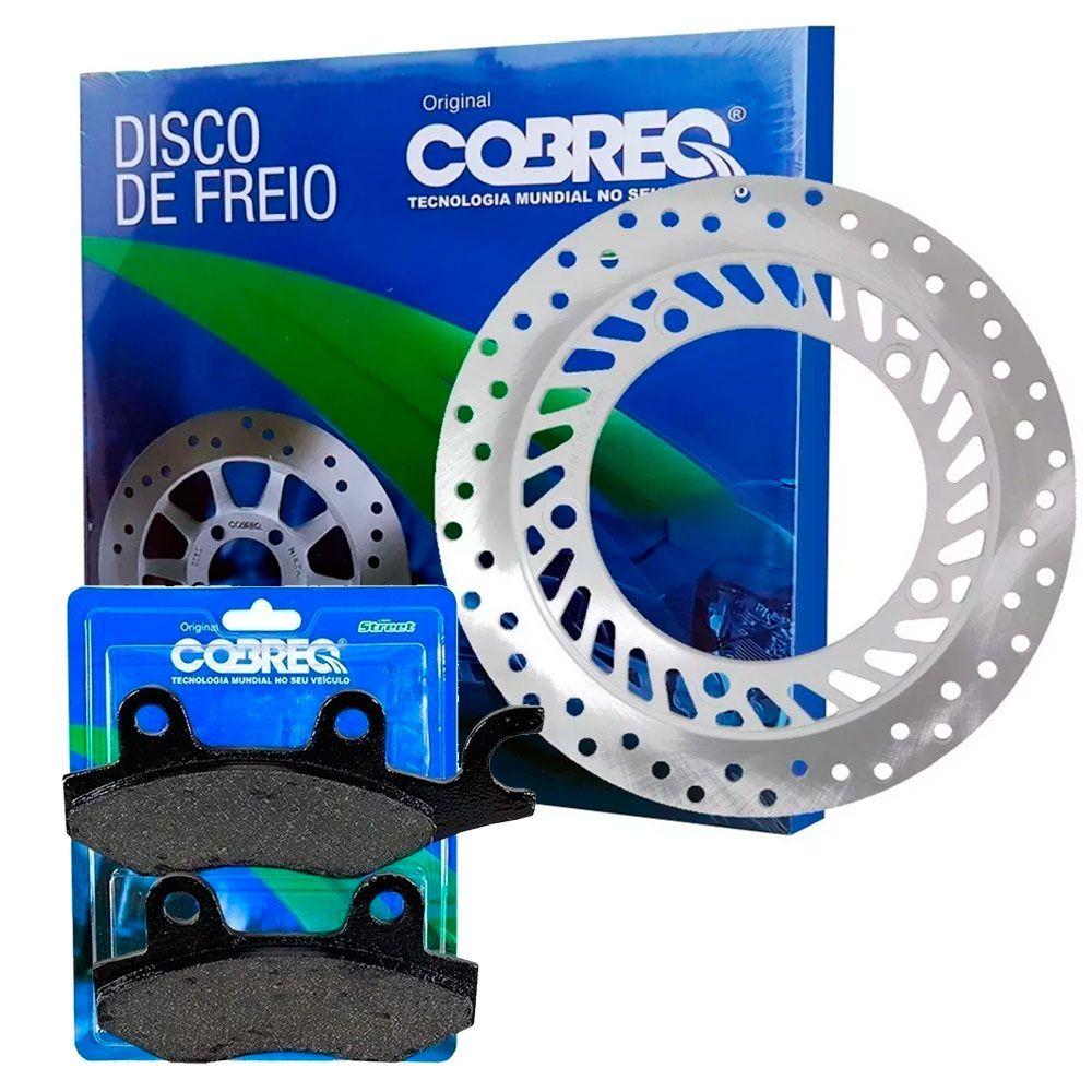 Disco de Freio CB 300 Sem ABS Dianteiro + Pastilhas Cobreq