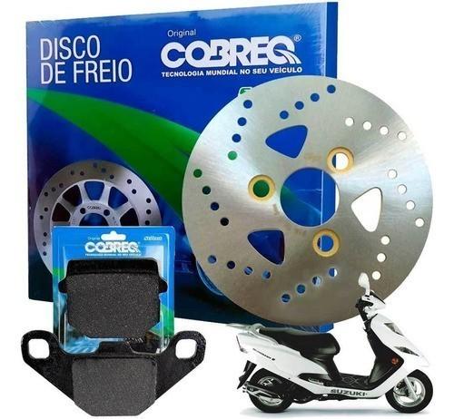 Disco de Freio Dianteiro Burgman 125 Injetada + Pastilha Cobreq