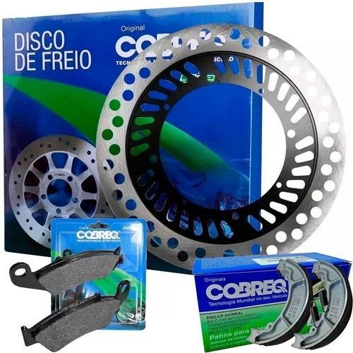 Disco de Freio XR 200 Dianteiro + Pastilha + Lona Cobreq