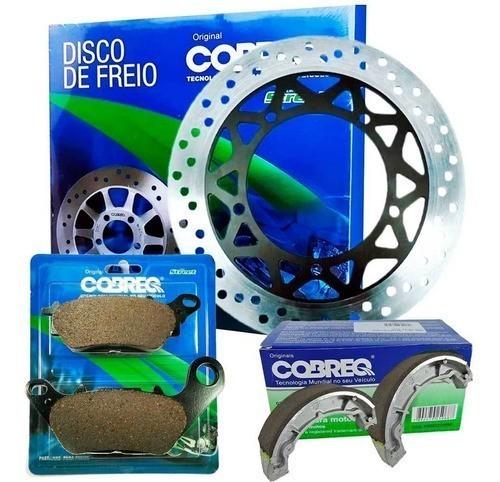Disco de Freio Ybr Factor 125 2009-2015 + Pastilha + Lona Cobreq