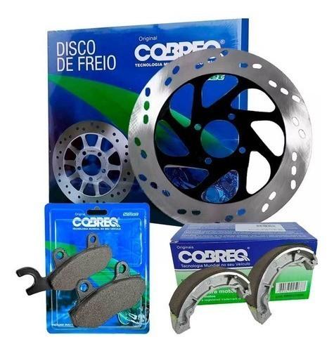 Disco de Freio Yes 125 + Pastilha + Lona Patim Cobreq