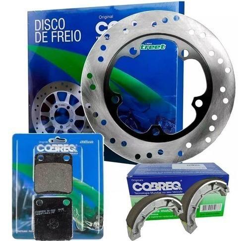 Disco Freio Dianteiro CBX 200 Strada + Pastilha + Lona Cobreq